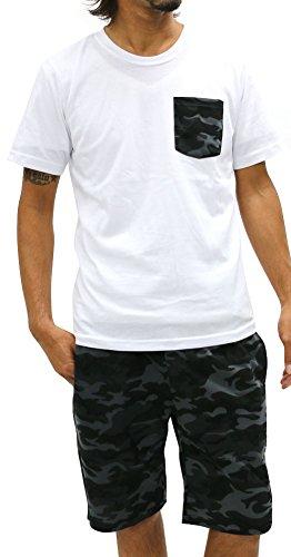 Lock Heaven(ロックヘブン) セットアップ 上下セット Tシャツ 迷彩 ポケット ショートパンツ メンズ ミディアムグレー2 M