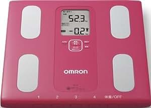 オムロン 体重体組成計 カラダスキャン HBF-207 ピンク