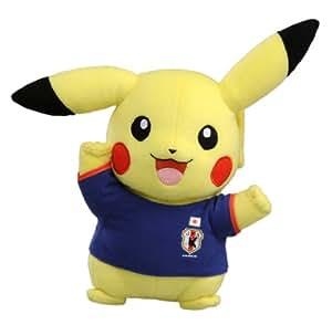 ポケットモンスター サッカー日本代表Withポケモン ピカチュウぬいぐるみ ガッツポーズ