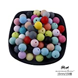 Mamimami Home 歯固め ビーズ 安全素材 シリコーン製 15MM・150個 ミックスカラー 授乳チュアブルボール DIY おしゃれ噛がため おしゃぶりチェーン 赤ちゃんの玩具 [BPAフリー][FDA認可済]