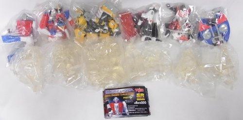SR 懐ロボミュージアム パート5 全12種セット(6種x彩色版とクリアー無彩色の2パターンのセット) ロボットマン(ミクロマン) アクロバンチ 飛影 黒獅子 ビスマルク グランファイター(ギンガイザ