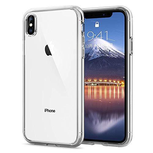 iphone XS ケース クリア 耐衝撃 透明 tpu シ...