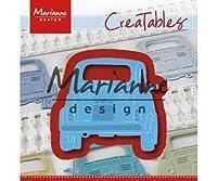 フィアット車-彫り、エンボス金属テンプレートCreatables(1),マリアンヌの設計、交通手段は、金属、大きなショットエンボス、Scrapboo