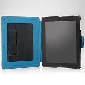 Zenus 自動スリープ対応 iPad2レザー風ケース Masstige アナコンダ ロイヤルネイビー  Z321iP2