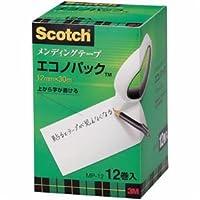 (まとめ) 3M スコッチ メンディングテープ エコノパック 大巻 12mm×30m 紙箱入 業務用
