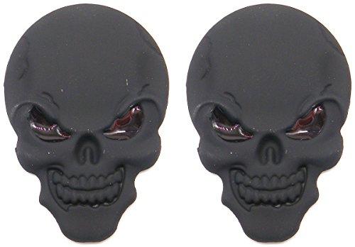 スカル エンブレム 3D 立体 ステッカー 骸骨 ドクロ 2個 セット 装飾 飾り カー アクセサリ...