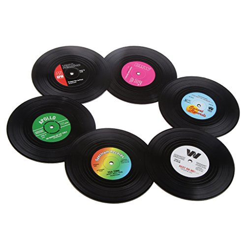 SONONIA ファッション コースター 丸いテープ 6本 カップ用 コーヒー 食器 飾り お土産
