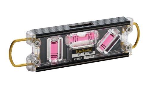 エビス(EBISU) 水平器 トビレベル・プロ ED-TBPBR 足場組立用 ブラック/レッド 奥行1.6×高さ4.3×幅16cm