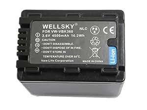 【NLC】Panasonic パナソニック ● VW-VBK360-K 互換バッテリー ● 純正充電器で充電可能 残量表示可能 純正品と同じよう使用可能 ● HDC-TM70 / HDC-TM60 / HDC-HS60 / HDC-TM35 / HDC-TM90 / HDC-TM95 / HDC-TM85 / HDC-TM45 / HDC-TM25 / HC-V700M / HC-V600M / HC-V300M / HC-V100M