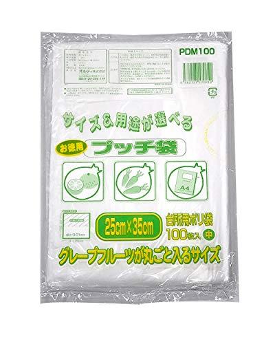 お徳用プッチ袋 中 透明(100枚入)
