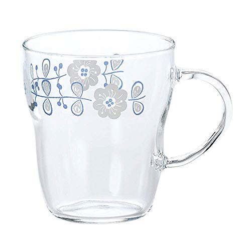 東洋佐々木ガラス 耐熱マグカップ クリア 330ml エルベール フラワー柄 日本製 食洗機対応  TH-401-J290