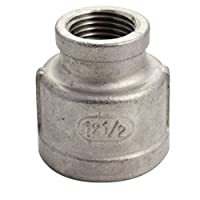 """SuperWhole 1""""x1/2""""Female Nipple Threaded Reducer Pipe Fitting Stainless Steel 304 NPT NEW by SuperWhole [並行輸入品]"""
