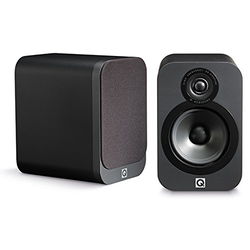 [해외]Q Acoustics 3020 Graphite 패시브 스피커 흑연 쌍/Q Acoustics 3020 Graphite Passive Speaker Graphite Pair