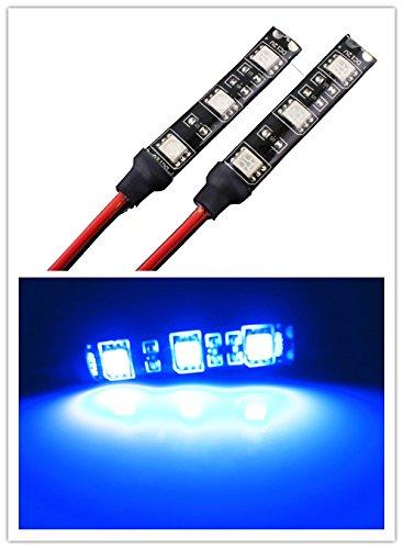 高輝度 LEDテープライト 5cm/9連 ブルー 青 防水 ...