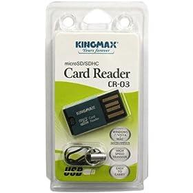 KINGMAX USB接続 超小型カードリーダー microSD/microSDHCに対応 CR-03