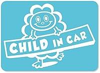imoninn CHILD in car ステッカー 【マグネットタイプ】 No.48 モクモクさん (水色)