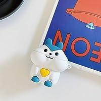 LHSY 保護カバーワイヤレスBluetoothヘッドセットのセット漫画超薄型の第二世代シリコーンソフトシェル抗失われたロープかわいい個性創造ほこりをAirpods (Color : White bunny)
