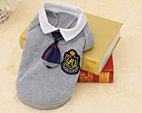 FidgetGear HOT Puppy Pet Dog Cat Clothes Hoodie Warm Sweater Dress Coat Costume Apparel Gray - Shirt S