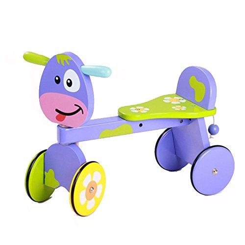 木のおもちゃ 足けり 乗り物 四輪車 プッシュ バイク 乗用玩具 木の車おもちゃ ベビー おもちゃ ...