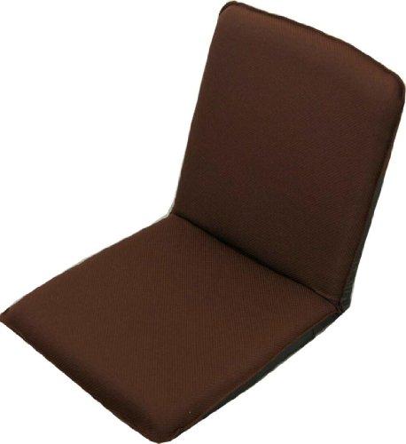 コンパクトな小さな座椅子 「ピッコロ」 ギア式14段階リクライニングチェアー ブラウン 【日本製】