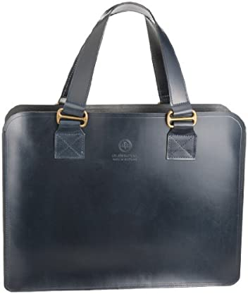 02-6153 Leather Tote Bag S: Navy