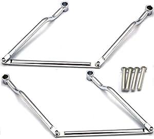 角度調整が可能 汎用 バイク サドルバッグ サポート 左右 1台分 セット