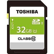 TOSHIBA SDHCカード 32GB Class10 UHS-I対応 (最大転送速度40MB/s...