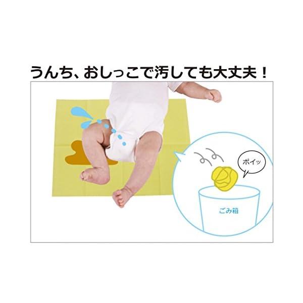 日本パフ 使い捨ておむつ替えシート 防水仕様の紹介画像2