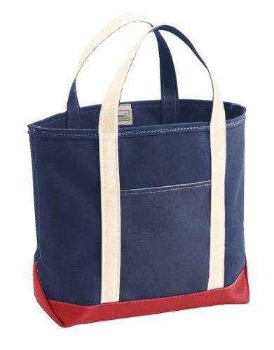 (エルエルビーン) LL Bean 別注キャンバストートバッグ ミディアム トリコロール 日本未入荷 Custom Tote Bag Medium Natural/Red/Blue  (並行輸入品)