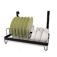 カウンタートッププレート/ボウル構成 3014ステンレス製の食器棚、キッチン用収納ラックに穿孔が必要(ヨーロッパスタイルの黒色)