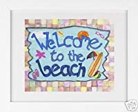 Welcome to the Beach–Framedアートプリント