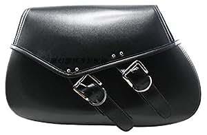ツーリング 雨具入れ 買い物 も 安心 バイク用 サイドバッグア メリカン 汎用 ツーリングバッグ ( 大容量ブラック×ブラック 有スタッズ)