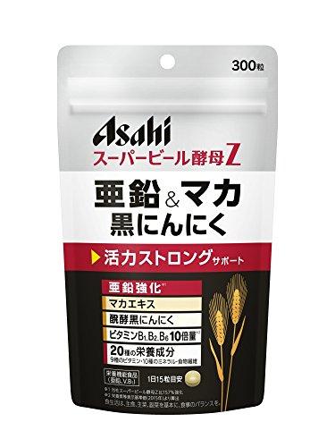 アサヒグループ食品 スーパービール酵母Z 亜鉛&マカ黒にんにく 300粒