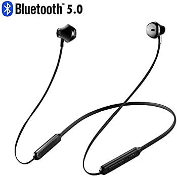 【 最新 bluetooth5.0 & HIFI 高音質 】 ネックバンド Bluetooth イヤホン Siri呼出 防水 Ipx5 ノイズキャンセリング マグネット ハンズフリー スポーツ ブルートゥース ワイヤレス イヤホン ランニング マイク ヘッドホン イヤフォン (ブラック)