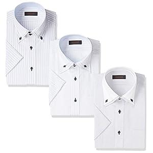 [スティングロード] スリムフィットノーアイロン形態安定加工半袖デザインシャツ3枚セット メンズ D584AM001-C マルチ 日本 M (日本サイズM相当)