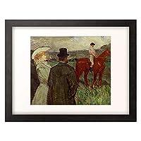 アンリ・ド・トゥールーズ=ロートレック 「Beim Rennen. 1899」 額装アート作品