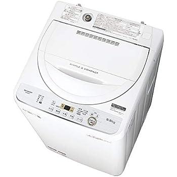 シャープ SHARP 全自動洗濯機 幅56.5cm(ボディ幅52.0cm) 5.5kg ステンレス槽 ホワイト系 ES-GE5C-W