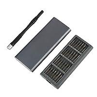 57Pcs 磁気スクリュードライバーセット 精密スクリュードライバーセット 多機能 アルミ合金のハンドル 高精度 ジカメ/パソコン/時計/ゲーム機に適用