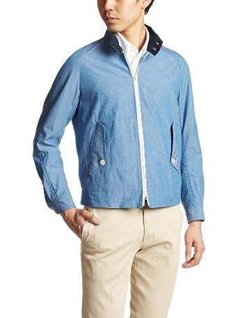 Cotton Linen Chambray Typewriter Cloth G4 Blouson 13011300603920: Blue