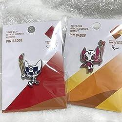 2020 東京 オリンピック パラリンピック ミライトワ ソメイティ 聖火リレー ピンバッジ 2個 セット