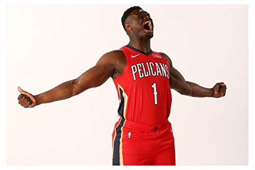 Zion Williamson ポスター 光沢プリント フォトウォールアート 限定セレブスポーツアスリート NBA バスケットボール ニューオーリンズ ペリカン サイズ 8x10 11x17 16x20 22x28 24x36 27x40#2 8x10 inches
