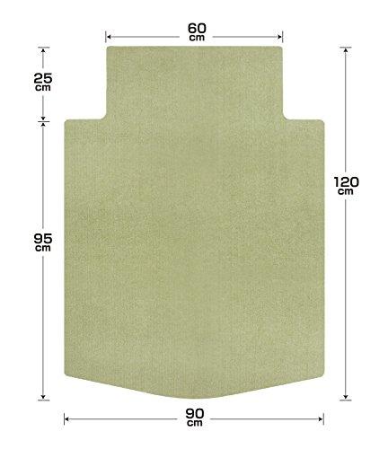 サンコー ズレないチェアマット おくだけ吸着 デスク足元マット T字型 グリーン