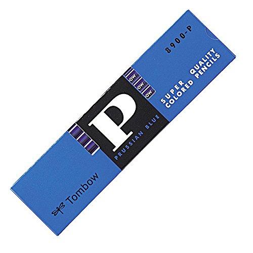 トンボ鉛筆 青鉛筆 8900P 丸軸 藍色 1ダース 8900-P
