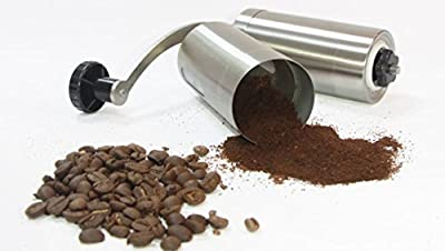 Manual Coffee Grinder Zolay™,Brushed Stainless Steel, Conical Burr Mill