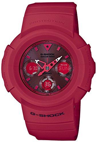 カシオCASIO 腕時計 G-SHOCK ジーショック 35th Anniversary RED OUT 電波ソーラー AWG-M535C-4AJR メンズ