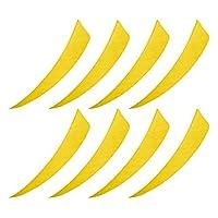 ゴシレ Gosear 50PCS 4 インチ人工アーチェリー矢弓羽木竹カーボン矢印狩猟アクセサリー-黄色
