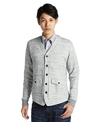 Sweat Hunting Cardigan 11-13-0510-295: Navy