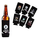 Lagute Beer Can Sleeves–ハロウィンパターンビールクーラー缶、Extra Thickネオプレンwith Stitched Fabricエッジ、6のセット
