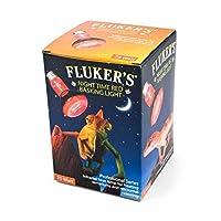 Fluker's Red Night Time Basking Spotlight Infrared Heat Lamp for Reptiles by Fluker's