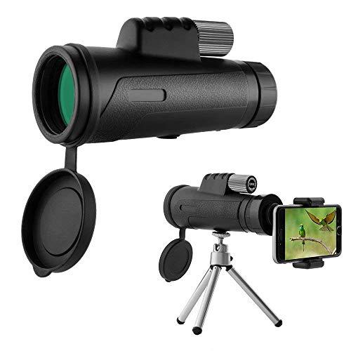 MaxTeck携帯電話望遠鏡 単眼鏡12X42 ハイパワープリズム 昼夜兼用...